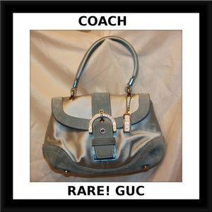COACH small Teal Rhinestone Evening Bag